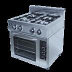 Плита газовая 4-х горелочная с электрической духовкой ф4пдг/800 GRILL MASTER