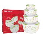 Набор керамических салатников с крышкой Oursson BS5980RC/GA