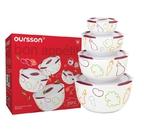 Набор керамических салатников с крышкой Oursson BS5980RC/DC