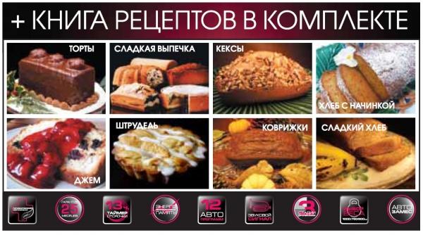 рецепты для хлебопечки redmond rbm-m1902