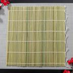 Циновка для суши бамбуковая Зеленая 27×27 см