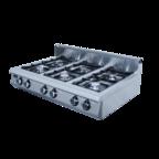 Плита газовая 6-ти горелочная ф6пг/800 (настольная)