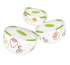 Набор керамических салатников с крышкой Oursson BS2981RC/GA